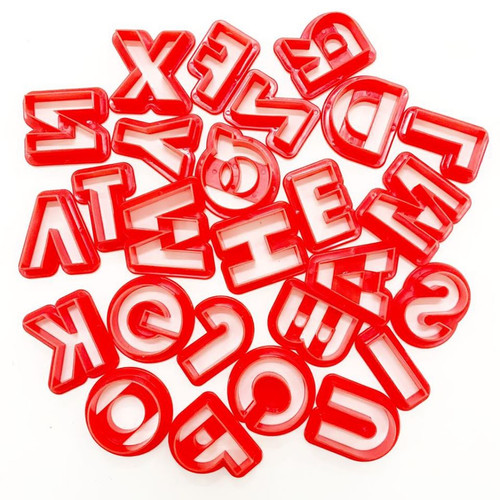 Plastic Cutter Set - Red Alphabet Uppercase