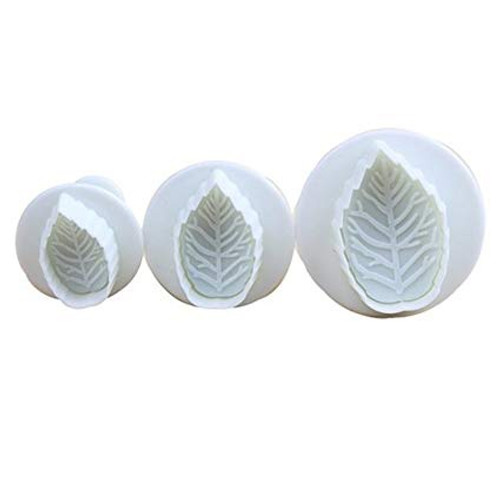 Plunger Cutter Set 3pc - Small Rose Leaf