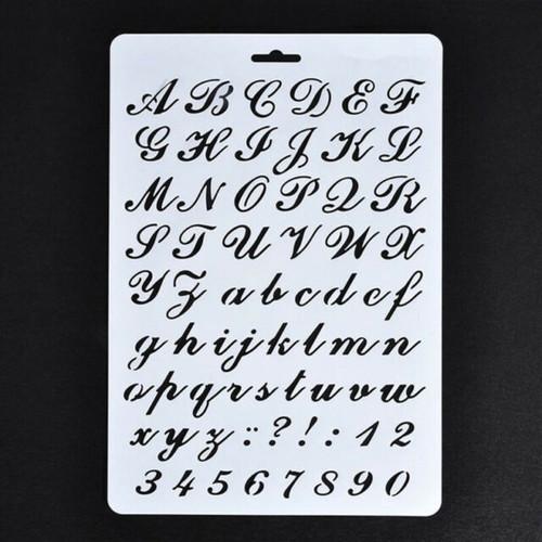 Numeral & Alphabet Stencil - Fancy