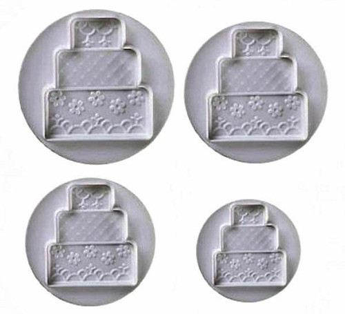 Plunger Cutter 4pc - TIERED WEDDING CAKES