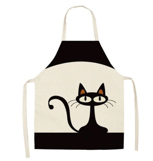 Womens Apron - Sitting Cat