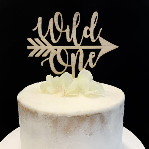 Cake Topper 'Wild One' - TIMBER