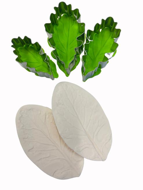 Chrysanthemum Leaf Veiner and cutter 5pc Set