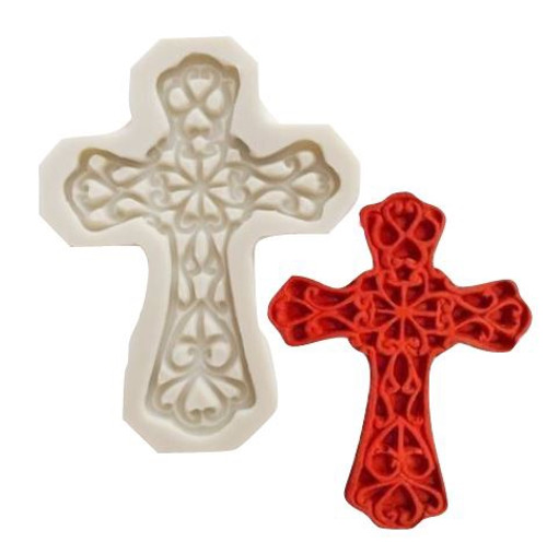Silicone Mold - MEDIUM CROSS