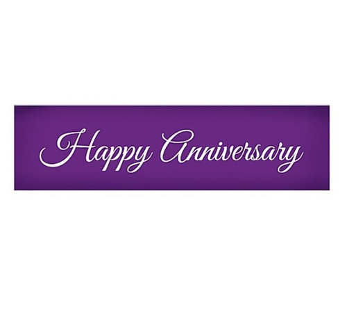 Mesh Cake Stencil - Happy Anniversary