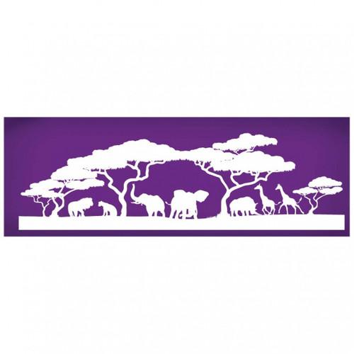 Mesh Cake Stencil - African Landscape & Animals