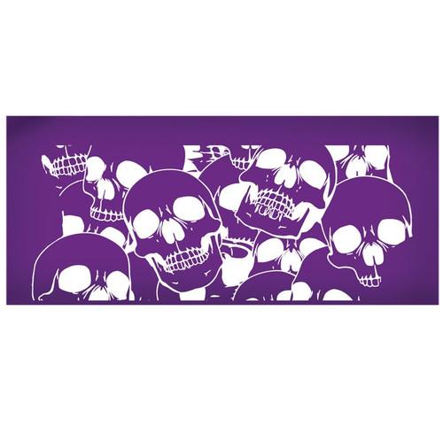 Mesh Cake Stencil - Skulls