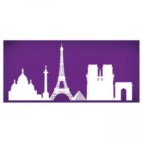 Mesh Cake Stencil - Paris Skyline