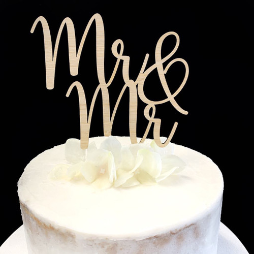 Cake Topper 'MR & MR' - BAMBOO