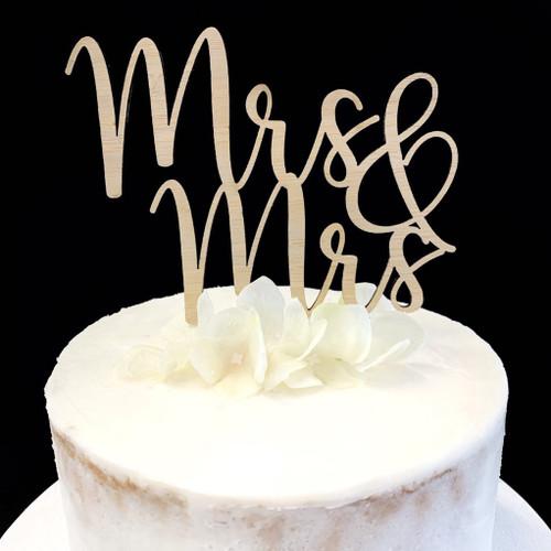 Cake Topper 'MRS & MRS' - BAMBOO