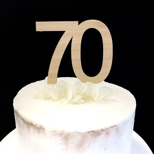 Cake Topper '70' 8.5cm - BAMBOO