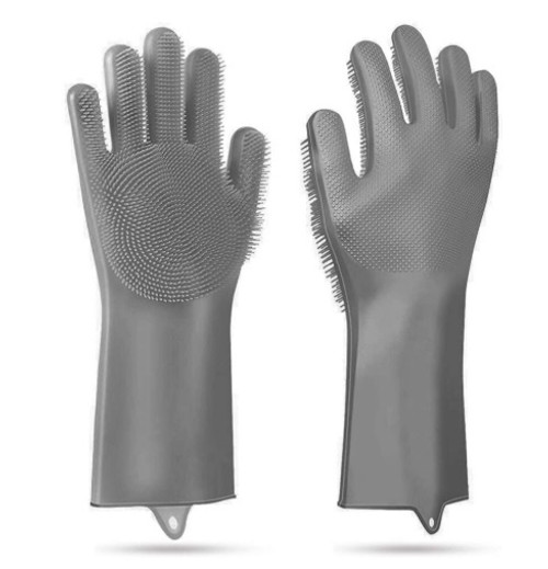 Silicone Dish-Washing Kitchen Gloves - 1 Pair
