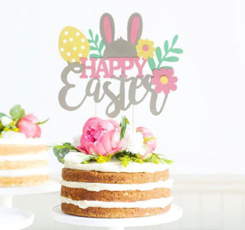 Cake Topper - Happy Easter