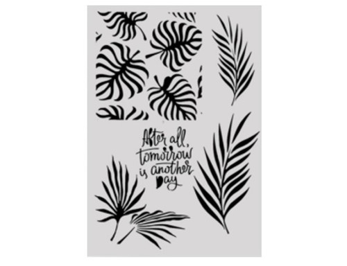 Cake Stencil - Tropical Leaves