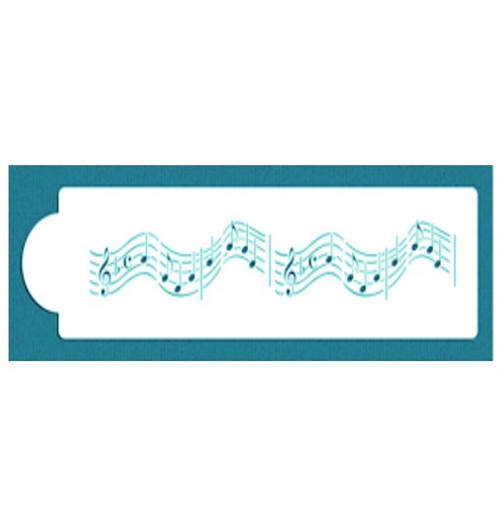 Cake Stencil - Musical Notes