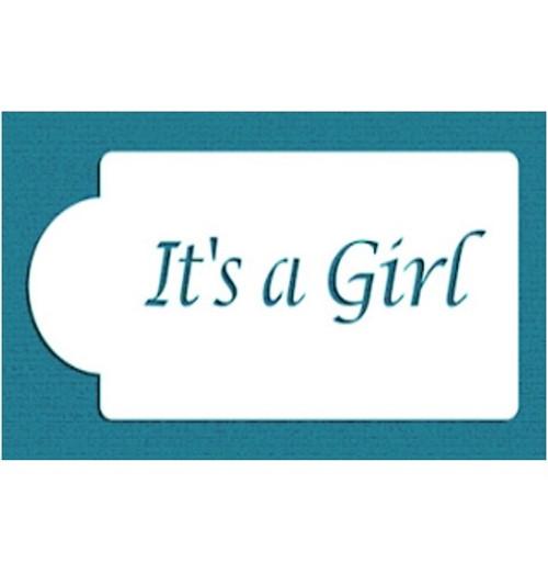 Cake Stencil - 'It's a Girl'