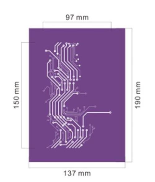 Mesh Cake Stencil - Circuit Board
