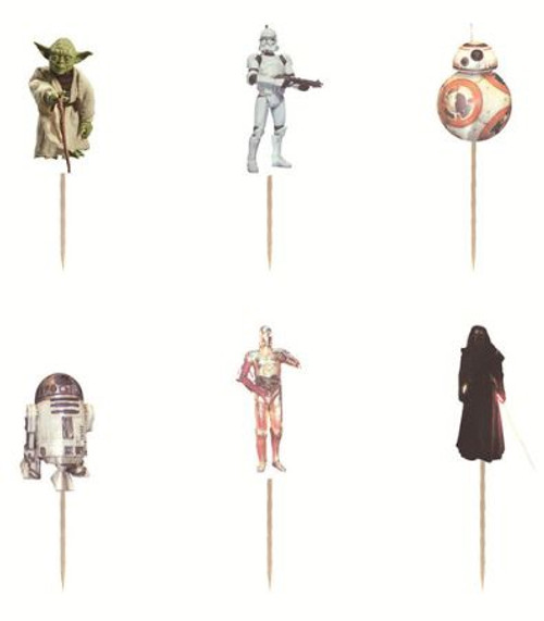 Cupcake Toppers - Star Wars (R2D2, Yoda)