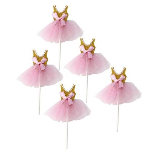 Cupcake Topper 5pc - Ballerina Tutu