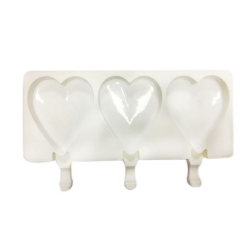 Silicone Mold - POPSICLE HEARTS / 3 Cavity