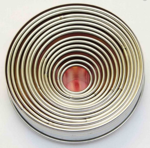 Tin Plate Cutters 14pc - ROUND