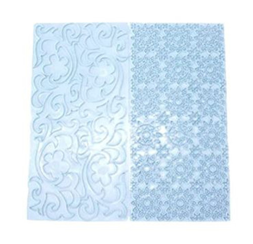 Plastic Embosser - 2 Floral Patterns B