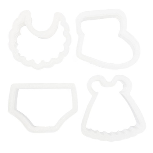 Plastic Cutters 4pc - Baby Set
