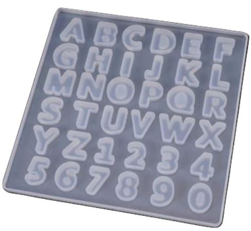 Silicone Mold - BASIC UPPERCASE ALPHABET