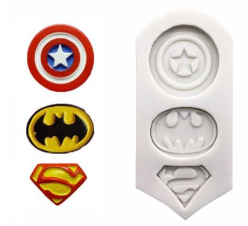 Silicone Mold - SUPER HERO 3PC