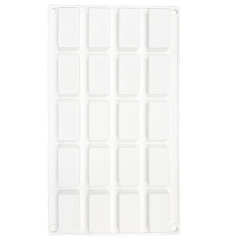 Silicone Mold - RECTANGULAR BAR 20pc