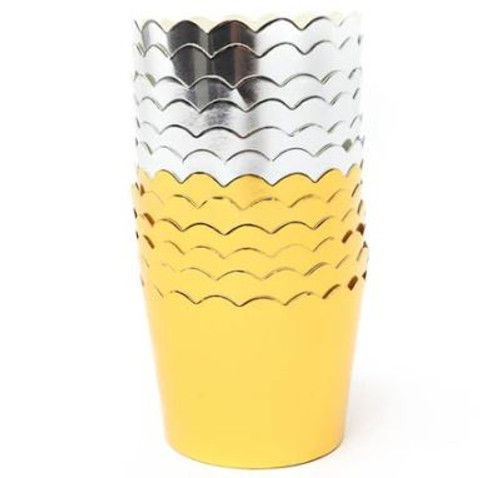 Foil Baking Cups - SILVER 25pc
