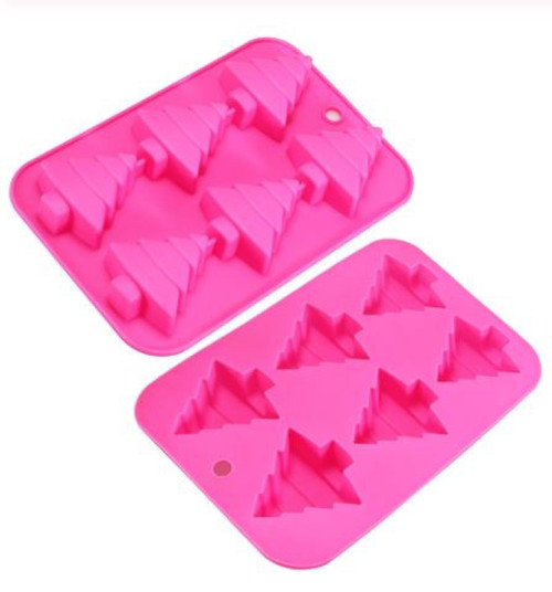 Silicone Mold - CHRISTMAS TREES 6 CAVITY