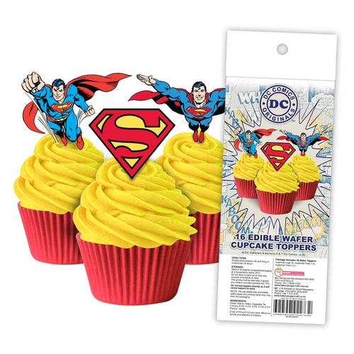 Edible Wafer Toppers - SUPERMAN 16PC