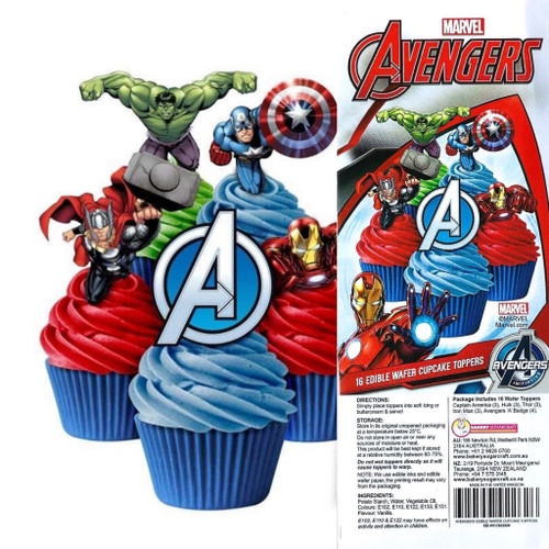 Edible Wafer Toppers - MARVEL AVENGERS 16PC