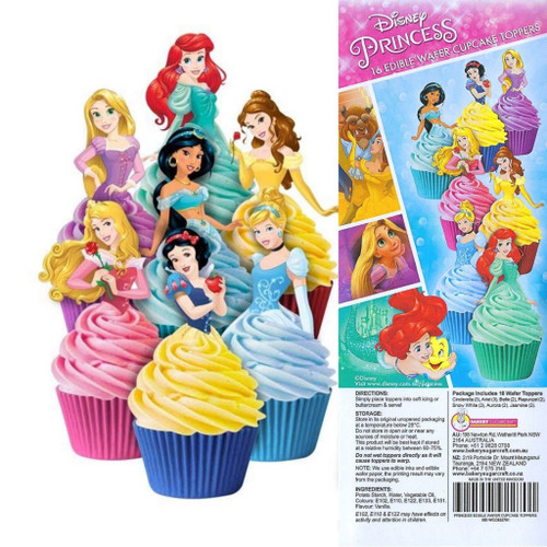 Edible Wafer Toppers - DISNEY PRINCESS 16PC