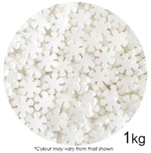 Bulk Sprinkles 1kg - SNOWFLAKES 12MM