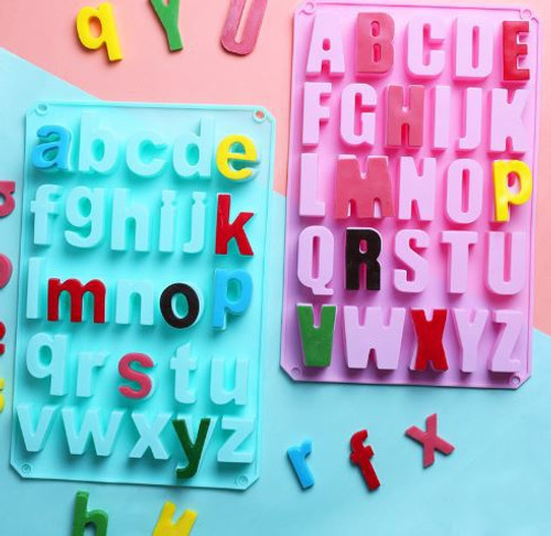 Alphabet Silicone Mold Uppercase & Lowercase Set - Large