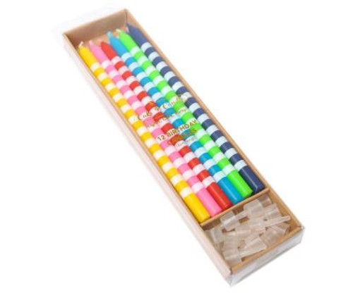 Birthday Candles Rainbow 12pc - RAINBOW