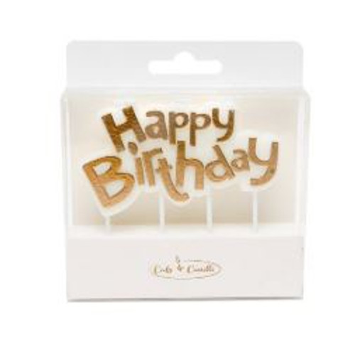 Party Candle - HAPPY BIRTHDAY PLAQUE GOLD