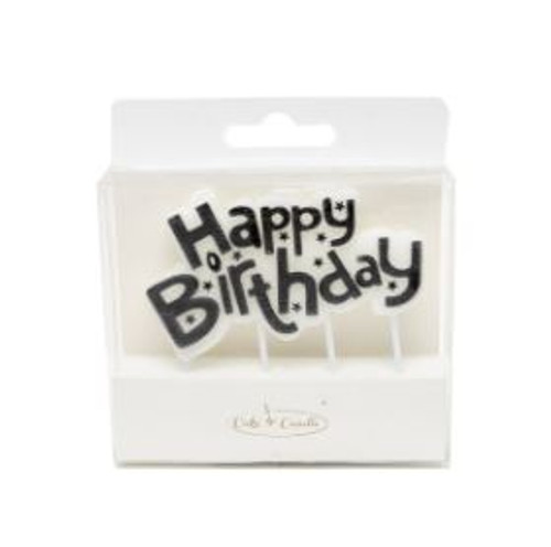 Party Candle - HAPPY BIRTHDAY PLAQUE BLACK