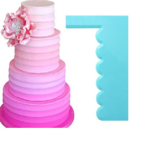 Plastic Cake Scraper -Scalloped Side