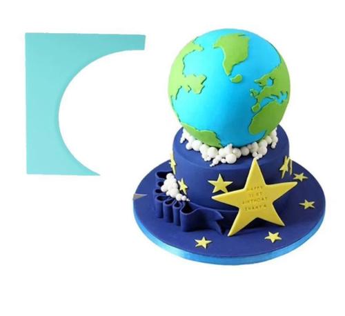 Plastic Cake Scraper- Sphere side