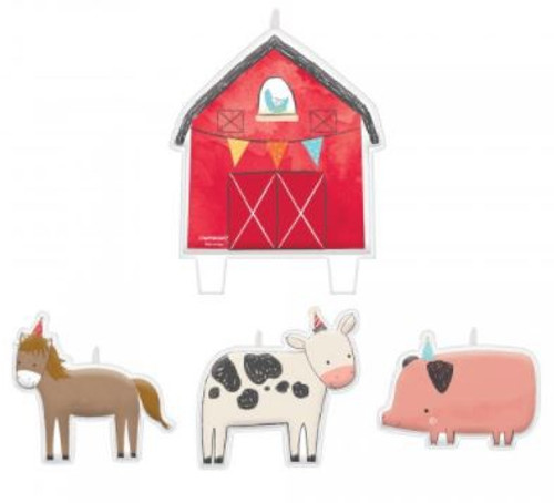 Barnyard Birthday Candle Set