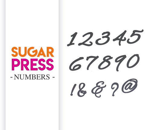 Sugar Press Number Set