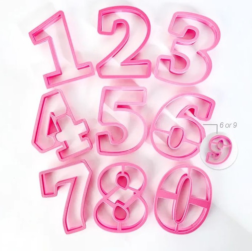 COOKIE CUTTER SET-LARGE NUMBER
