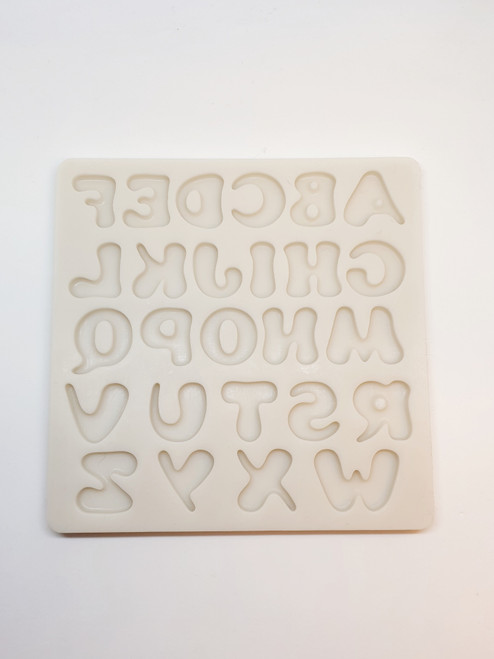 Chunky Uppercase Silicone Mold