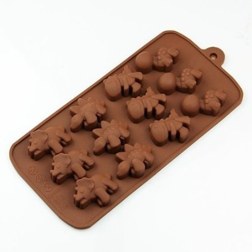 Choc Small Dinosaur 12 Cavity Mold