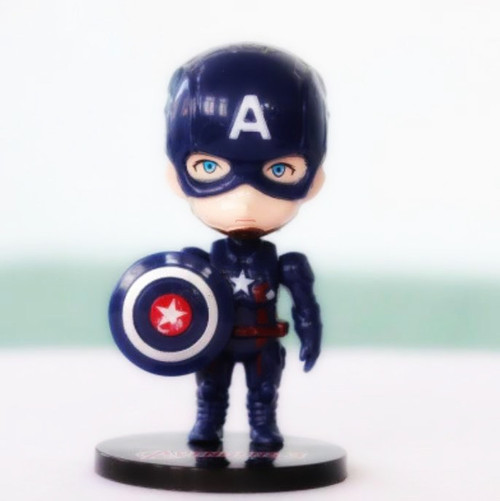 Cake Topper - Captain America Figurine