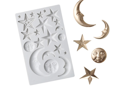 Bed-Time Stars & Moon Silicone Mold