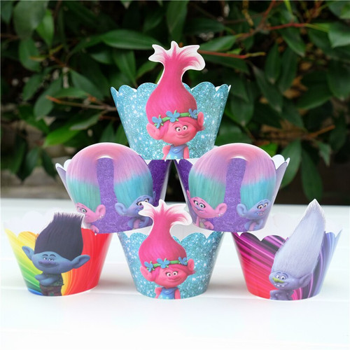 Cupcake Wrap 12pc - TROLLS